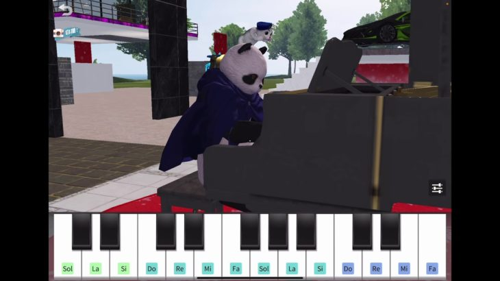 【荒野行動】ピアノが弾けないパンダが他人のマイトピアで何時間も練習した件(夜に駆ける)