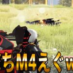 【ガチ百戦】M4の腰撃ち強すぎてチートなんだけどwww【荒野行動上手くなる方法】【立ち回り】